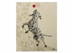 Dog with Red Ball Canvas - 25