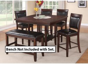 Fairview Counter Table & 4 Stools