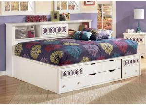 YB11 Colors & White Full Bedside Storage Bed