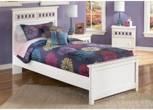 YB11 Colors & White Twin Panel Bed