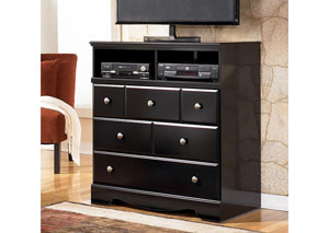 MB20 Black Merlot Media Chest