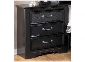 MB21 Black Mansion Nightstand