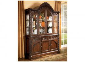 DR2 Old World 2-Piece China Cabinet