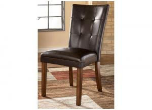 DR13 Medium Brown Contemporary Side Chairs: Set of Two
