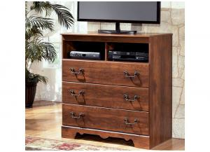 MB33 Warm Cherry Media Chest