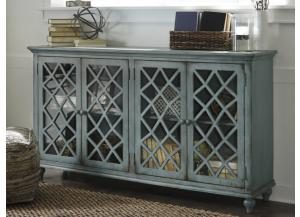 Vintage Teal Lattice Large Cabinet