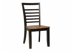 DR110 2-Tone Brown Side Chairs: Set of 2