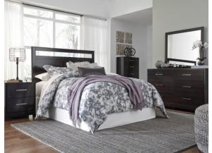 MB125 Merlot Finish Queen Panel Headboard, Dresser, Mirror & Nightstand