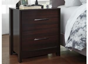 MB125 Merlot Finish Nightstand