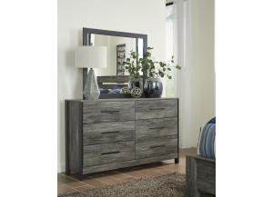 MB151 Black and Gray Dresser and Mirror