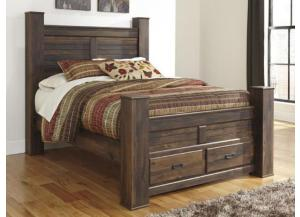 MB16 Rustic Cottage Queen Storage Bed