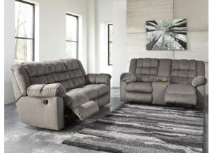 Comfy Charcoal Reclining Sofa