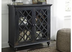 Vintage Black Lattice Cabinet