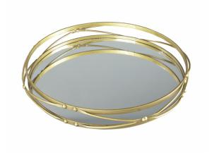 Antique Gold Round Tray