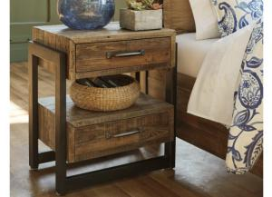 MB134 Brown Plank Nightstand