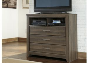 MB10 Rustic Oak Media Chest