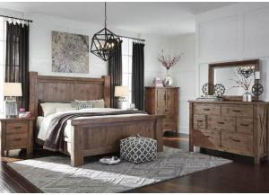 Tahoe King Poster Bed, Dresser, Mirror & Nightstand