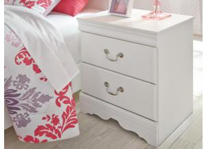 YB18 Traditional White Nightstand