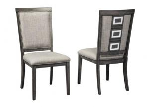 DR96 Gray Side Chairs: Set of 2