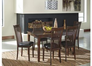DR47 Medium Brown Dining Table & 6 Chairs