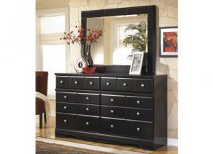 MB20 Black Merlot Dresser & Mirror