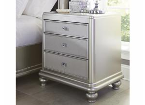 MB97 Silver Mirror Nightstand
