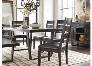 DR107 Dark Brown Dining Table & 4 Chairs