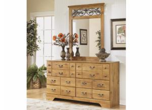 MB9 Light Pine Country Dresser & Mirror