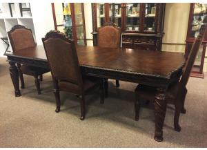 DR2 Old World Dining Table & 4 Chairs