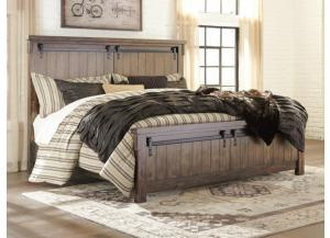 MB136 Rustic Brown King Panel Bed