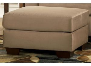 LR85 Cocoa Ottoman from the Microfiber Collection