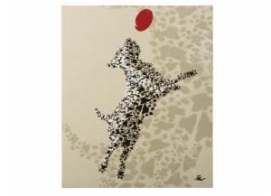 Dog with Red Ball Canvas 2 - 25