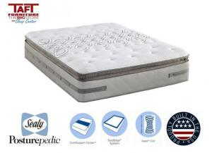 Sealy Posturepedic Cushion Firm Euro Pillow Top Queen Mattress