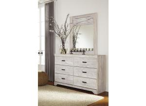 MB152 White Washed Dresser and Mirror