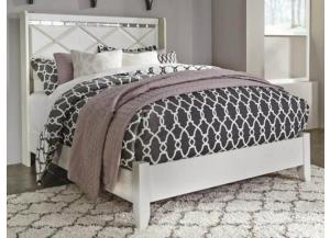 MB77 White Contemporary King Panel Bed
