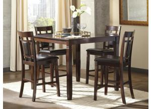 DR97 Contemporary Brown Pub Table & 4 Stools