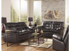 LR41 Coffee Leatherblend Sofa from the Triple Pub Collection