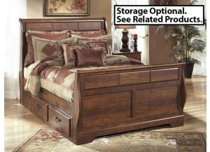 MB33 Warm Cherry Queen Sleigh Bed
