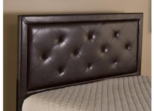 Brown Faux Leather King Headboard