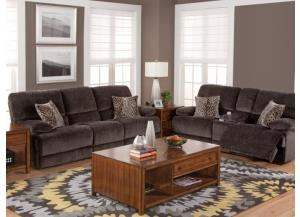 Shadow Drop-Down Storage Arm Reclining Sofa