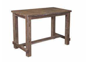 DR18 Weathered Gray Bar Table