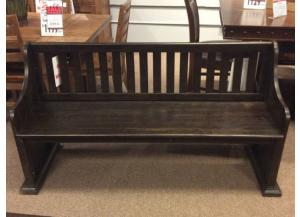 DR102 Dark Ash Pew Dining Bench