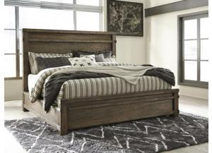 MB121 Dark Brown Queen Panel Bed