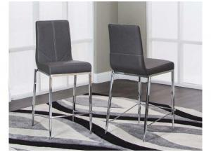 DR205 Pewter Side Chair: Set of 2