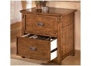 HO1 Mission Oak Lateral File Cabinet