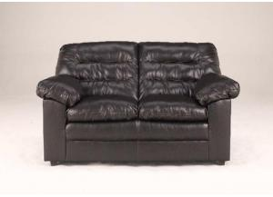 LR41 Coffee LeatherBlend Loveseat from the Triple Pub Collection