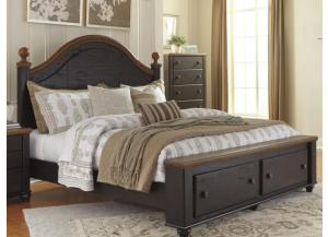 MB90 2-Tone King Storage Bed