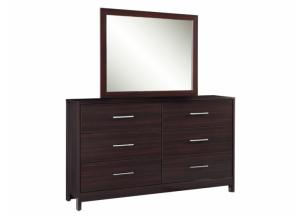 MB125 Merlot Finish Dresser & Mirror