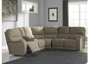Solstice Taupe 3-Piece Power Sectional