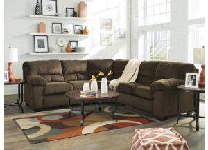 Cloud Chocolate 2-Piece Sectional